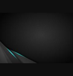 black metallic background triangle and corner vector image