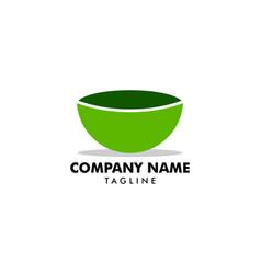 bowl logo template vector image