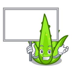 Bring board aloevera character cartoon style vector
