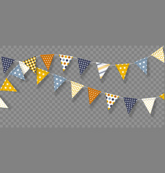 Bunting flags with geometric patterns vector