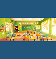Cartoon of school classroom vector