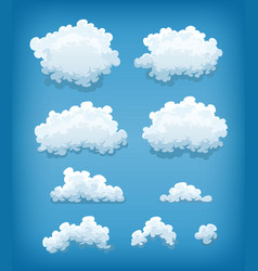 clouds set on blue sky background vector image