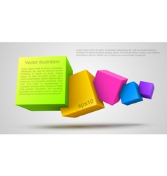 Colorful cubes 3D vector image vector image