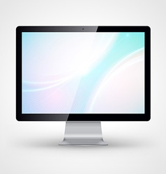 Computer display with wallpaper isolated on white vector