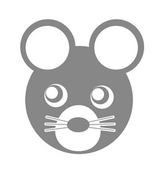cute mouse character icon vector image