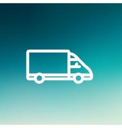 Delivery van thin line icon vector