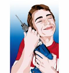 drill boy vector image