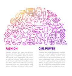 fashion girl line template vector image