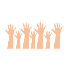 figure hands up icon vector image