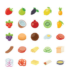 Food ingredients pack vector