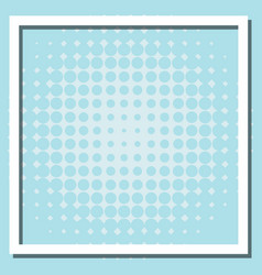 Frame template design with blue dots vector