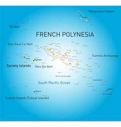 French Polynesia vector