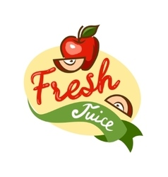 Fresh juice emblem 1 vector
