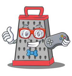 Gamer kitchen grater character cartoon vector