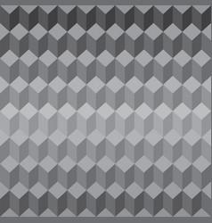 geometric seamless pattern gray 3d cubes vector image