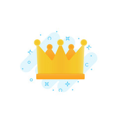 gold crown flat icon awards for winners vector image