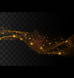gold lines light vector image