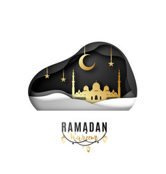 greeting card design on occasion muslims vector image