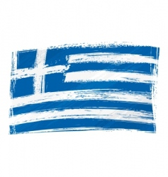 Grunge Greece flag vector