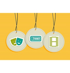 Hanging entertainment badges vector