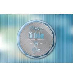Happy birthday badge vector
