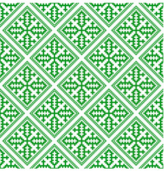 hmong pattern seamless texture background green vector image