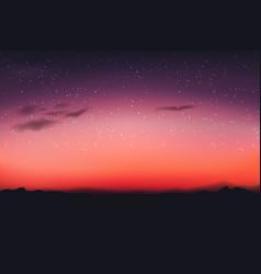 horizontal wide blurred mountain night sky vector image
