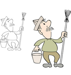 House painter vector image
