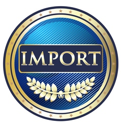 Import Label vector image