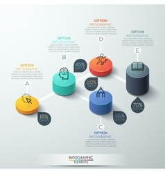 infographic template Modern box cylinder Design vector image