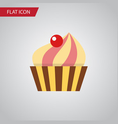 Isolated confectionery flat icon sweetmeat vector