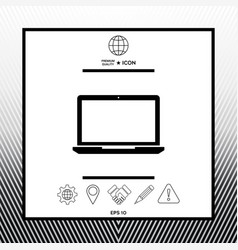 Laptop symbol icon vector
