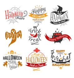 logo happy halloween vector image