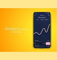 mobile phone application for analytics stock vector image