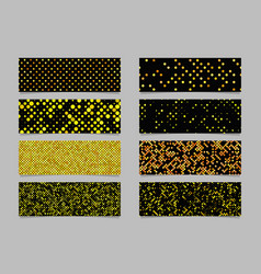 Modern abstract dot pattern banner background set vector