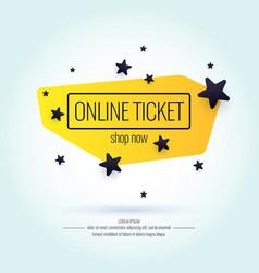 modern poster sale online tickets vector image
