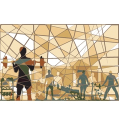 Mosaic gym vector