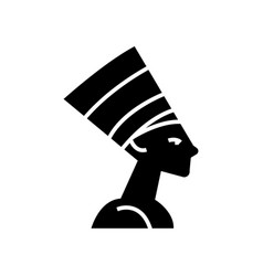 Nefertity - egypt icon black vector