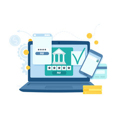 online banking and transaction for business vector image