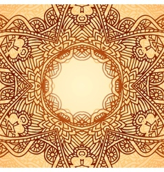 Ornate ethnic circle frame vector image