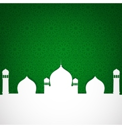 Paper mosque on green vector