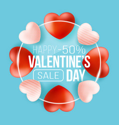 promo web banner for valentines day sale vector image