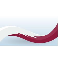 qatar waving national flag modern unusual shape vector image