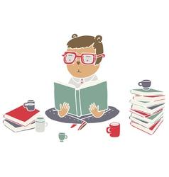 Read books vector