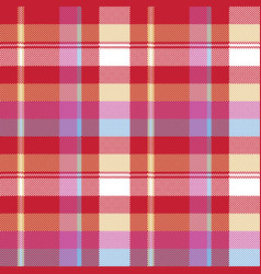 red pixel plaid seamless fabric texture vector image