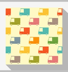 Retro seamless pattern collection with car 6 vector image