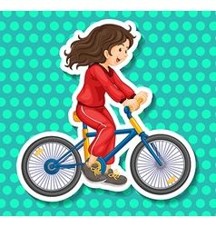 Riding vector image