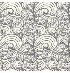 Seamless curl pattern vector image