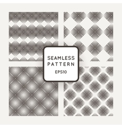 set of seamless geometric patterns of mesh vector image