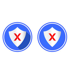 shield and cross round flat icon vector image